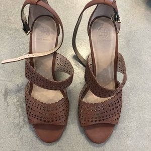 Tory Burch brown wedge sandal
